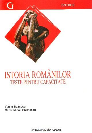 Istoria romanilor. Teste pentru capacitate